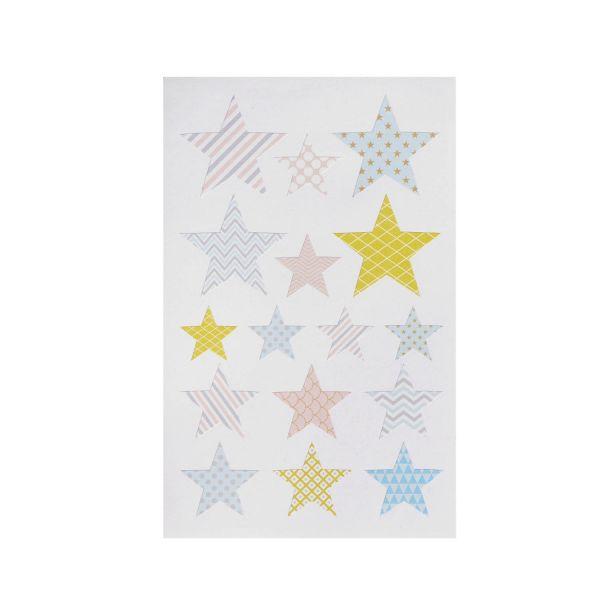 Sticker Stern pastell, 32 Stück