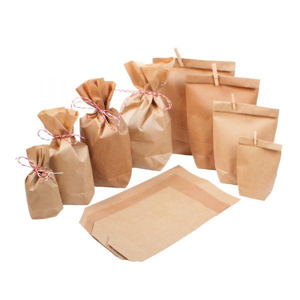 BODA Papiertüte mit Boden Kraftpapierbeutel