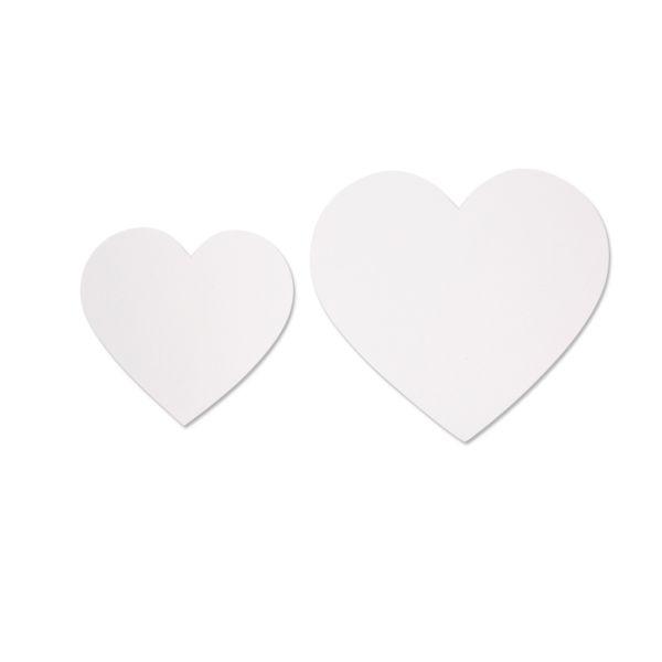 Herz aus Karton, weiß, 50 Stück sortiert in 2 Größen