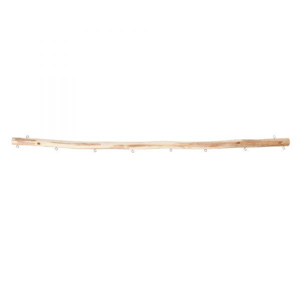 Holzast zum Aufhängen mit 8 Anhängeösen, L 60 cm