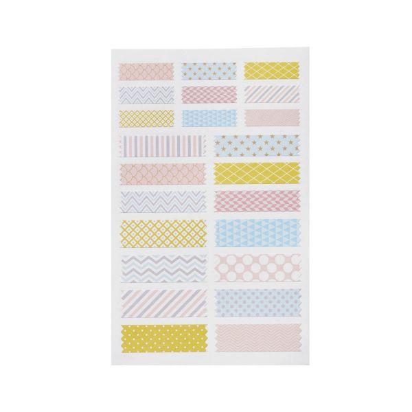 Sticker Streifen pastell, 46 Stück