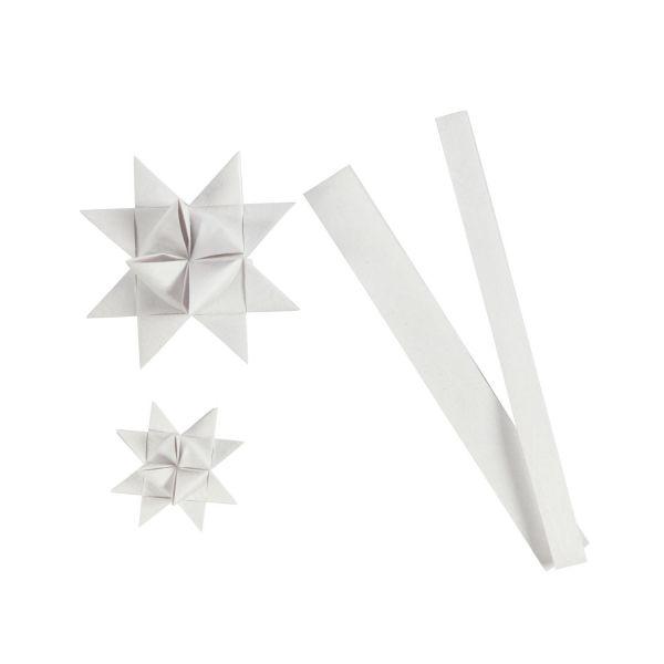 Fröbelsternstreifen weiß, 32 Papierstreifen