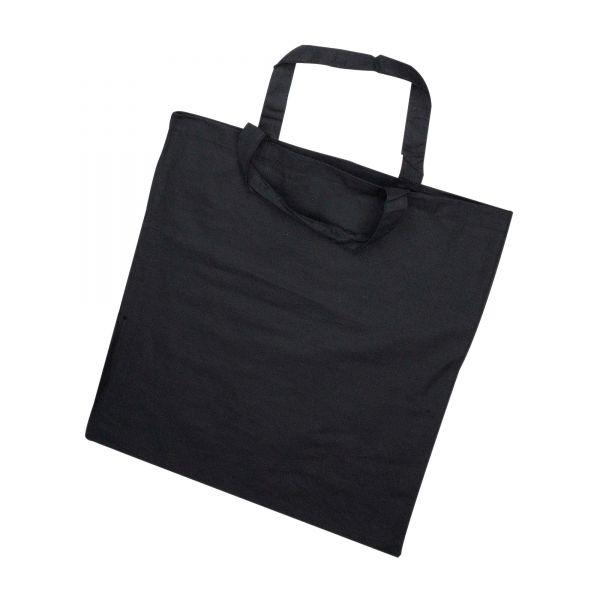 Stoffbeutel mit kurzem Henkel, 38 x 42 cm, schwarz