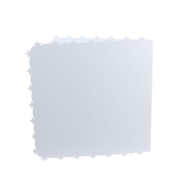 """Doppelkarten 13,5 x 13,5 cm """"Blütenrand"""" 5er"""