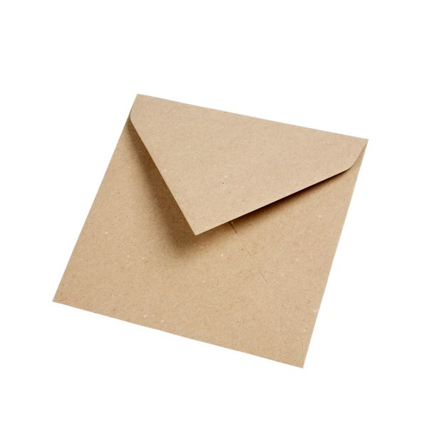 BODA Briefumschläge Kraftpapier 16 x 16 cm, 25 Stück
