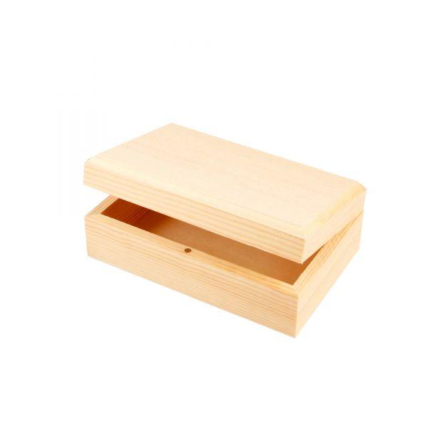 Holzkiste mit Magnetverschluss, ca. 14 x 9 x 5 cm