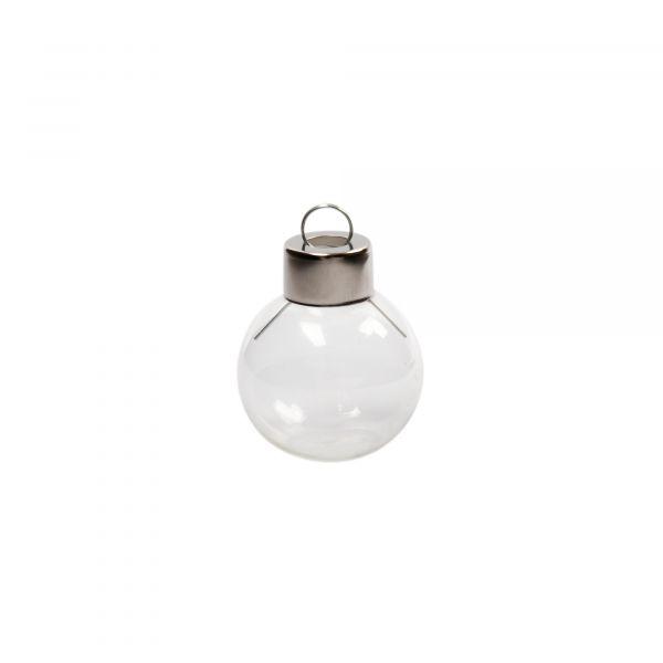 Glaskugeln mit abgeflachtem Boden zum Hinstellen, D 3,5 cm
