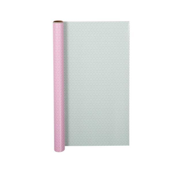 Geschenkpapier Motiv rosa/antik-mint, Rolle 5 m