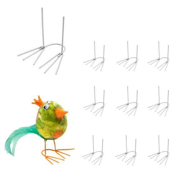 BODA Drahtfüße Huhn ca. 2,5 x 4,5 cm,10 Stück