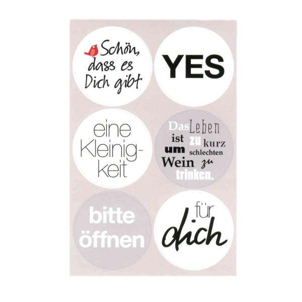 24 Sticker Für Dich, 4 Bogen mit jeweils 6 Motiven Aufkleber selbstklebend