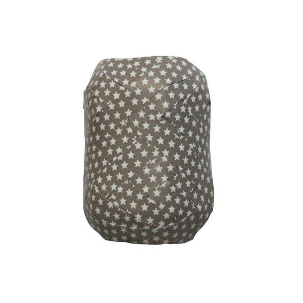 Geschenkband Sternchen, grau-weiß, B10 mm, L20 m