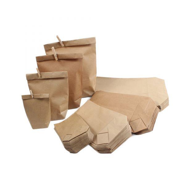 BODA Kraftpapierbeutel MIX, 100 Stück, sortiert in 4 Größen