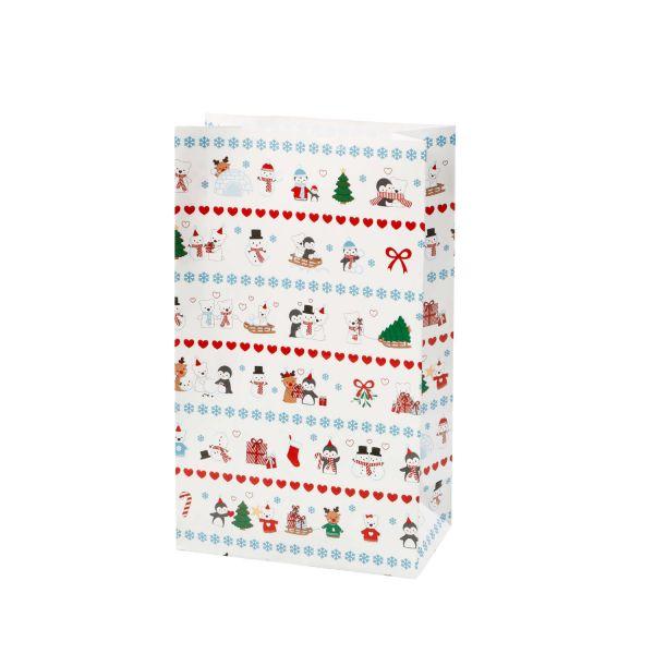 Geschenktüte Eisbär, B12 x T 6 x H 21 cm, 8 Stück