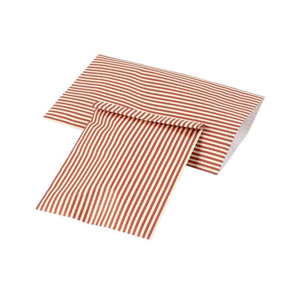 Geschenktüten, 12 Stück rot-weiß gestreift 21 x 11,5 cm, Papiertüten Papierbeutel