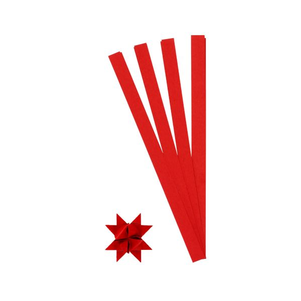 Fröbelsternstreifen rot, 1,5 cm, 100 Stück