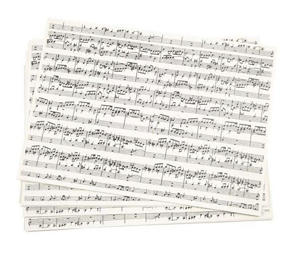 Kraftpapier Musiknoten, 10 Blatt A4 100g, Bastelpapier