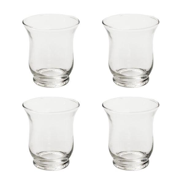 Windlicht Mini-Vase Glas, Ø 7,5 cm H 9 cm, 4 Stück