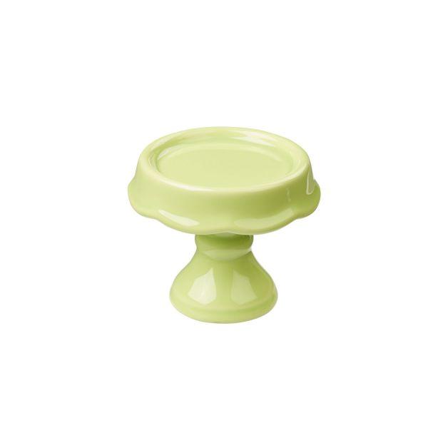 Mini Etagere, Keramik, H 7,5 cm, hellgrün