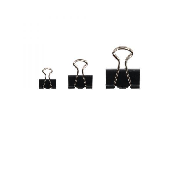 Foldback-Klammern schwarz, 100 Stück