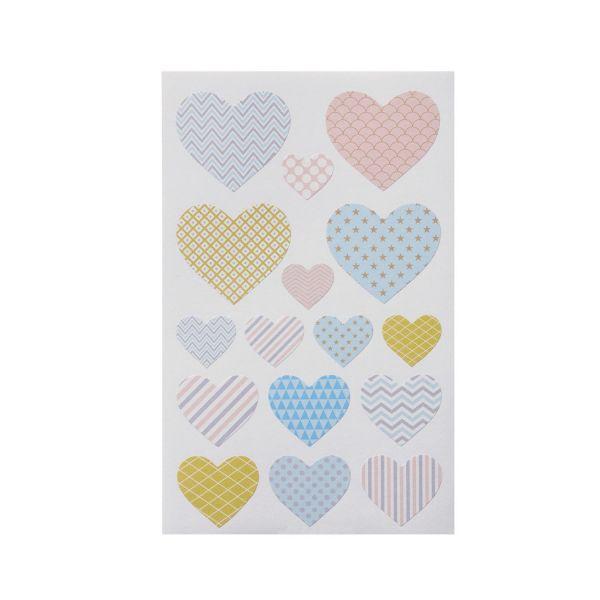 Sticker Herz pastell, 32 Stück