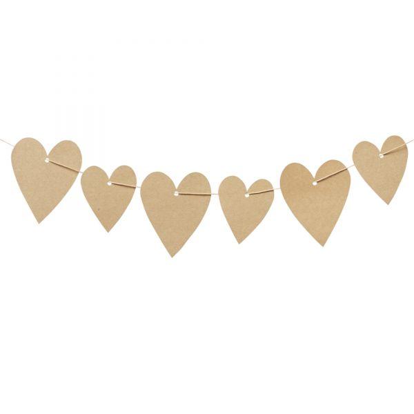 20 Geschenkanhänger Herz, natur, sortiert in 2 Größen