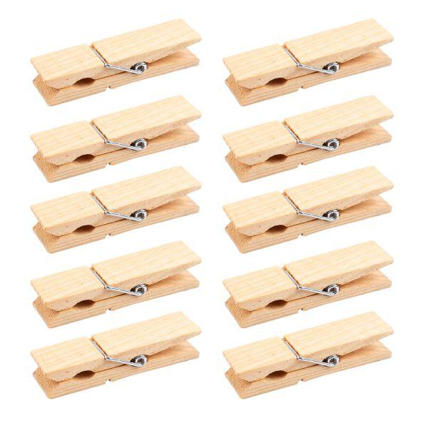 Holz-Wäscheklammern breit, 2 x 7 cm, 10 Stück