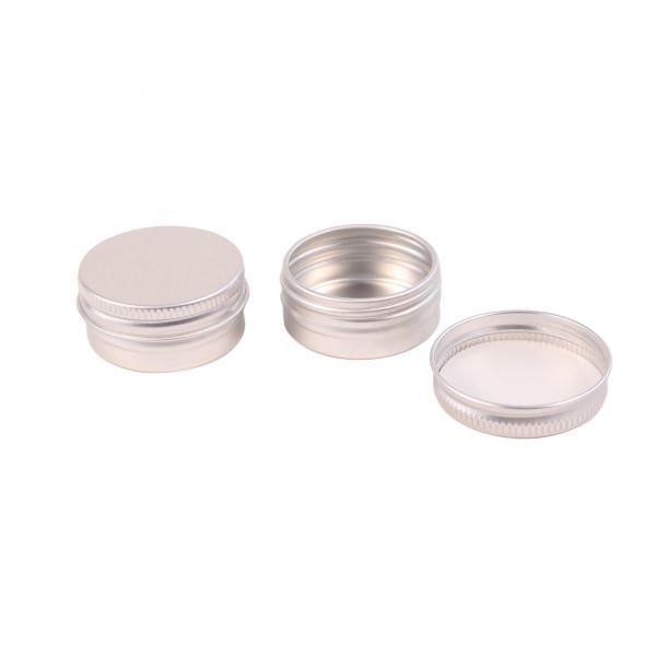 Mini Metalldose mit Schraubdeckel 15 ml, ca. Ø 4,2 cm, H 1,7 cm