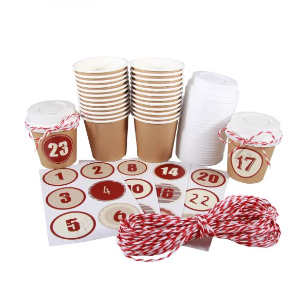 BODA Set Adventskalender CUP, braun
