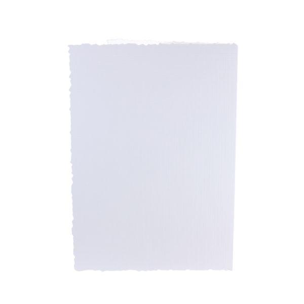 """Doppelkarten DIN A6 """"geriffelter Rand"""" 5er Pack"""