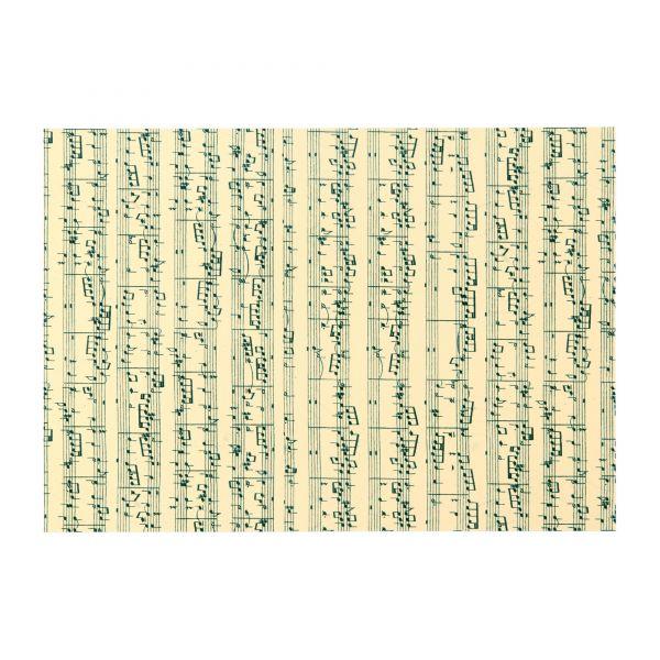 Bastelkarton Motiv Musiknoten DIN A4, 180 g/qm, 10 Blatt