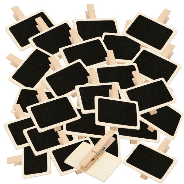 Holztafel auf Wäscheklammer groß, 6,5 x 4,5 cm, 25 Stück
