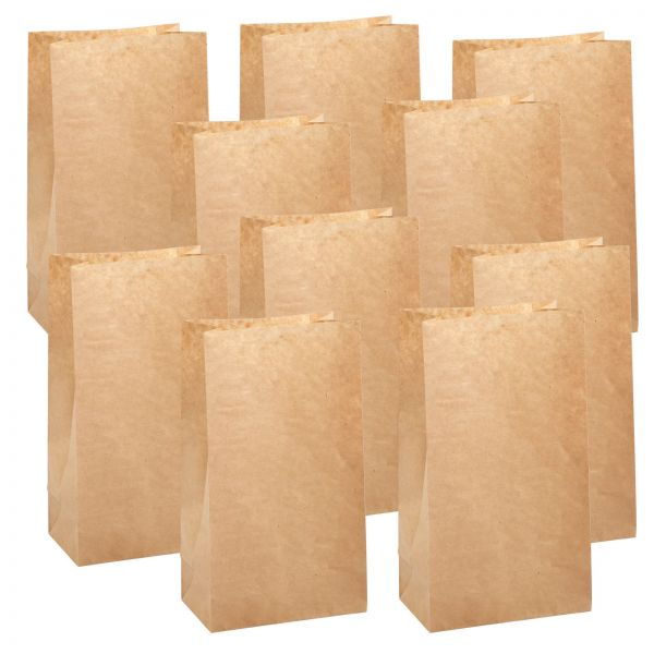 BODA Kraftpapier-Tüten 15 x 10 x 25 cm, 10 Stück