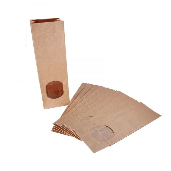 BODA Blockbodenbeute klein mit Fenster braun 7 x 21,5 cm, 20 Stück