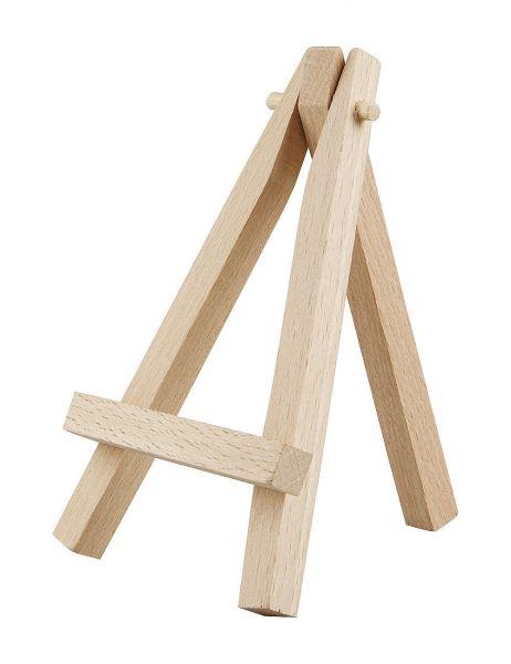 Mini-Staffelei, Deko-Staffelei Aufsteller Tischdekoration, H 12cm Holz