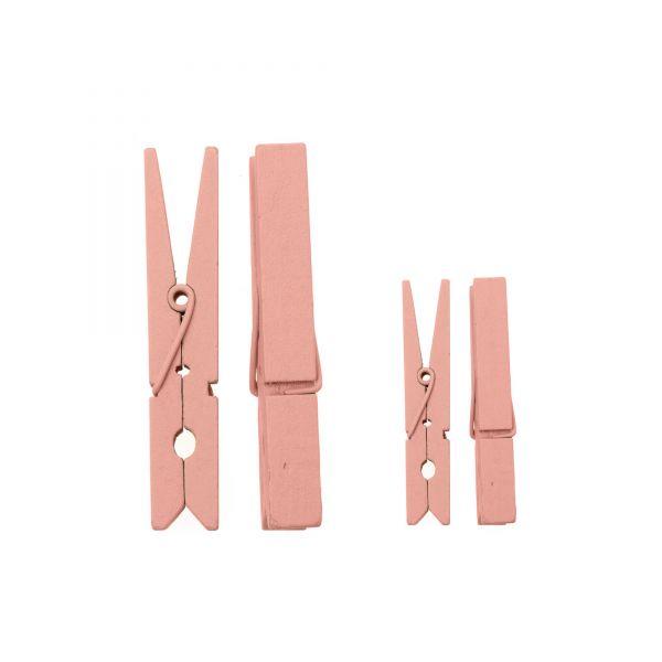Wäscheklammern aus Holz rosa