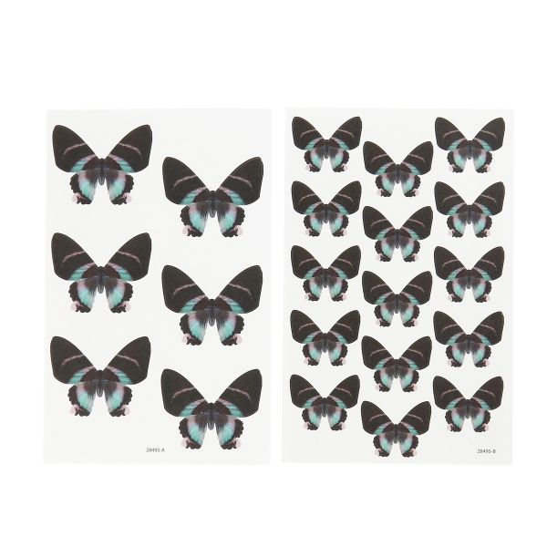 42 Sticker Schmetterling, sortiert in 2 Größen