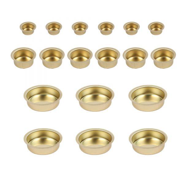 Kerzentüllen aus Metall MIX-Set, 18-tlg.