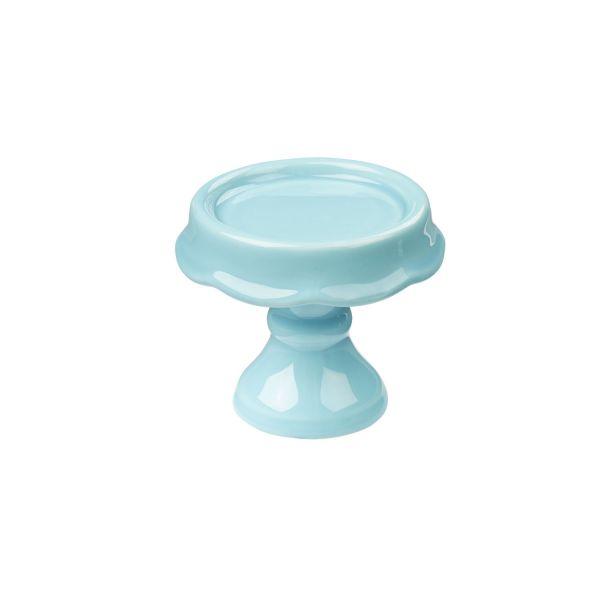 Mini Etagere, Keramik, H 7,5 cm, hellblau