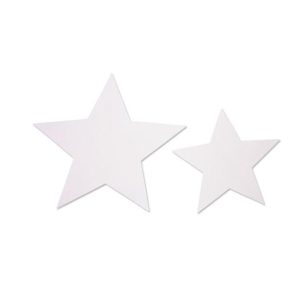 Stern aus Karton, weiß, 40 Stück sortiert in 2 Größen
