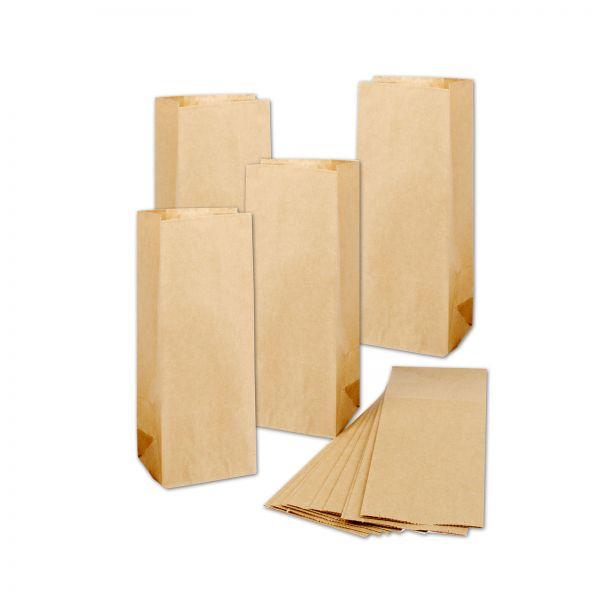 BODA Kraftpapier-Tüten 10 x 6,5 x 27 cm, 50 Stück