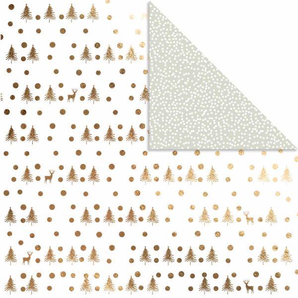 Design Papier Hirsch & Punkte, 30,5 x 30,5 cm, 3 Blatt