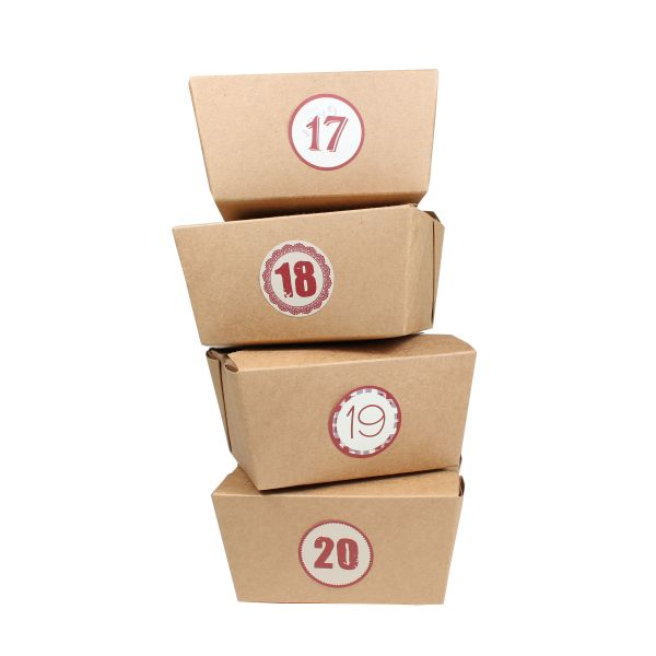 BODA Adventskalender Box zum Selbstbefüllen, 25-tlg