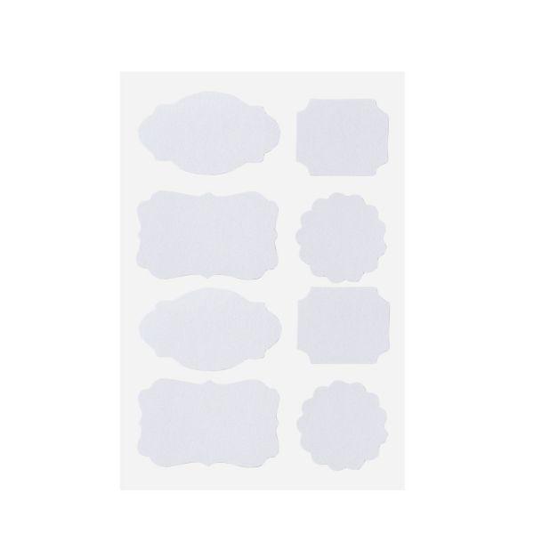 Selbstklebende Etiketten, weiß, 32 Stück