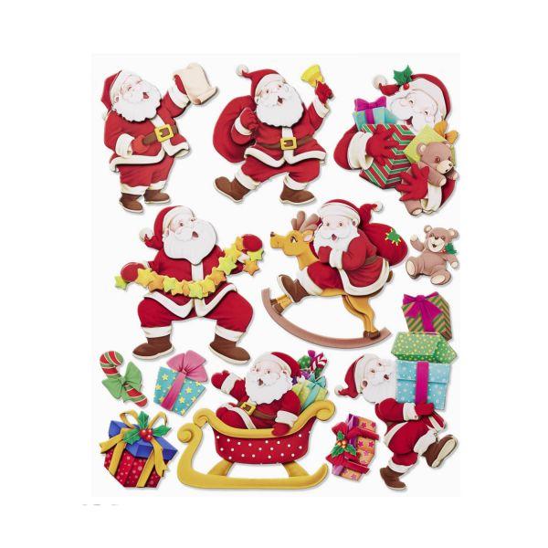 3D Sticker XXL Weihnachtsmann, Bogen 30 x 35 cm