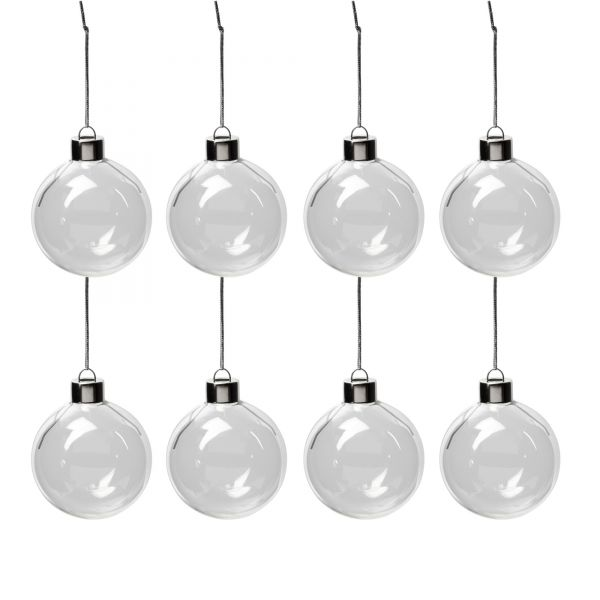 Glaskugeln, Durchmesser 5,9 cm, 8 Stück