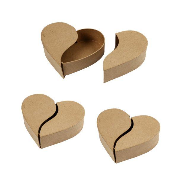 Schachtel Herz, Durchmesser ca. 16,5 cm, 3 Stück