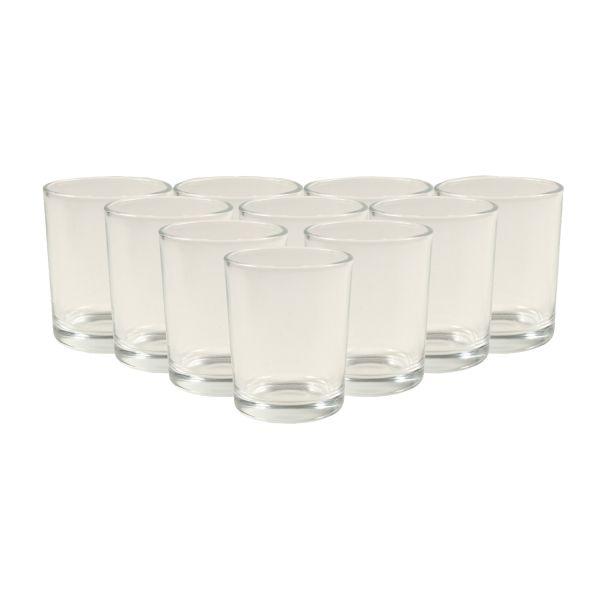 Teelichtglas Glas für Fingerfood Dessertglas, 100 ml, Ø 5,6, H 6,7 cm, 10 Stück