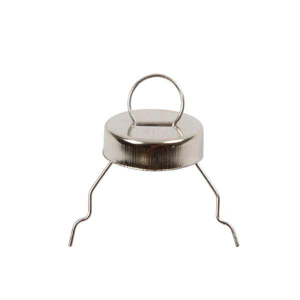 Aufhänger mit Zierkappe, D: 13 mm, 25Stck.