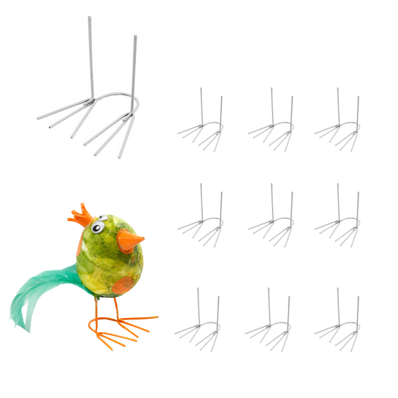 Hühnerfüße aus Metall, klein, ca. 2,5 x 4,5 cm, 10 Stück | BODA Creative