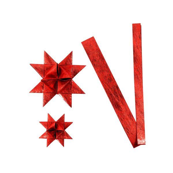 Fröbelsternstreifen rot, 32 Papierstreifen